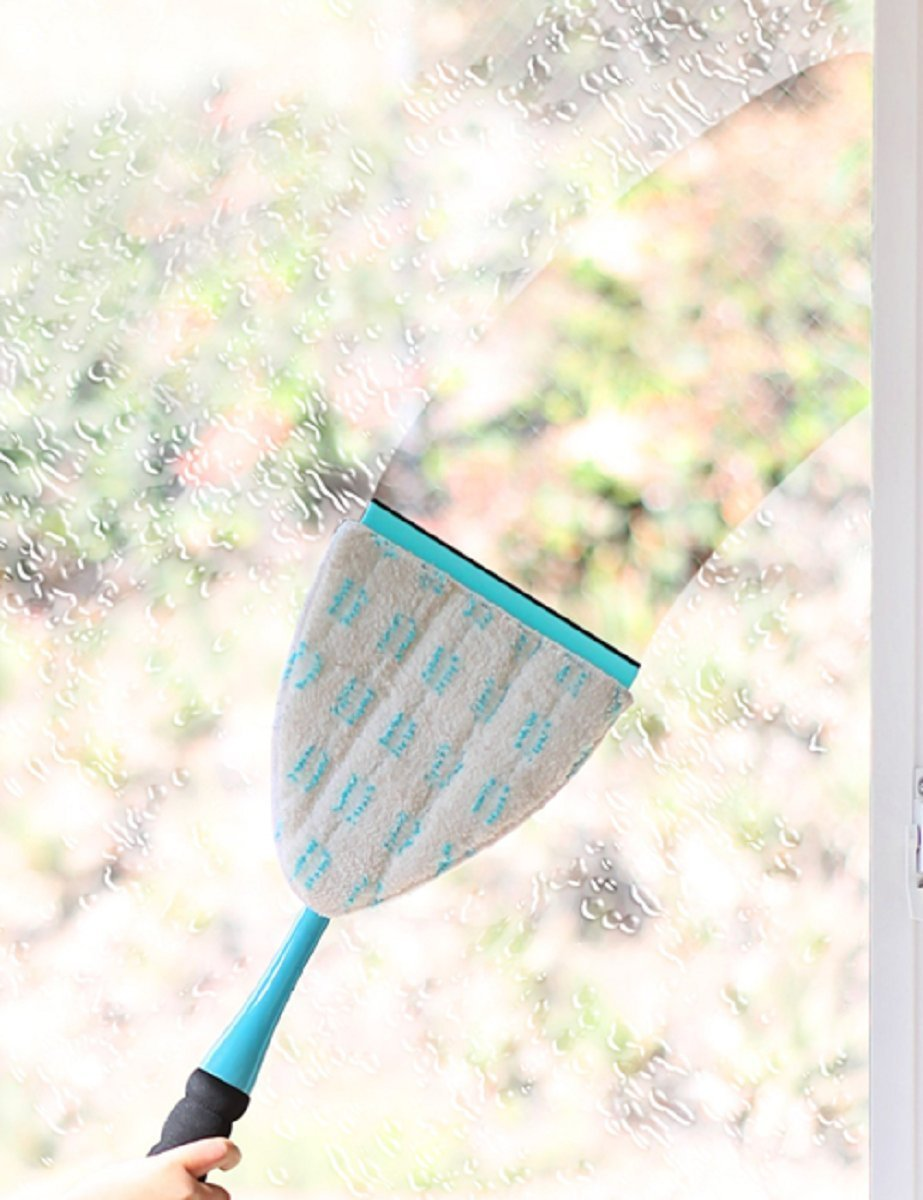 Fuller Brush 56070-808 Big E-Z ScrubberPremium Window & Glass Cleaning Kitwith 29''-52'', Big EZ Scrubber + Extendable Pole, Aqua by Fuller Brush (Image #4)