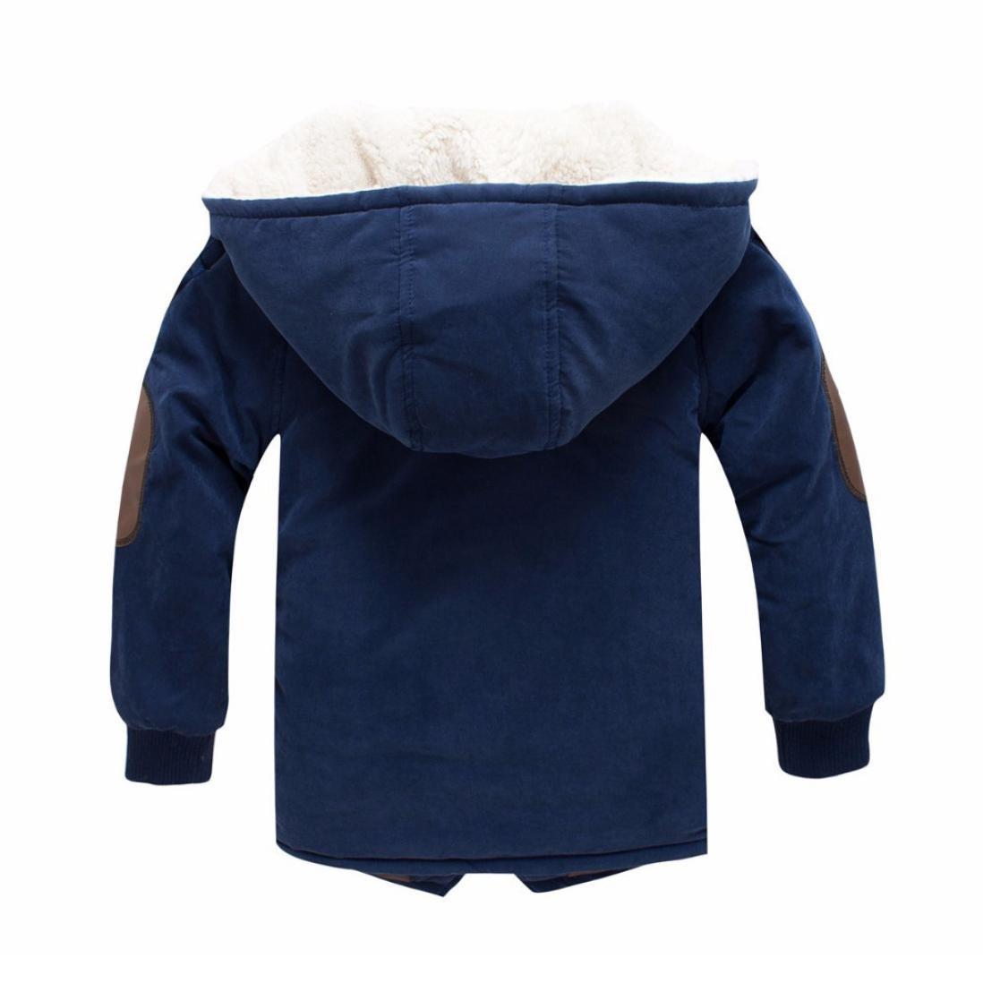 Manteaux à capuche Garçons Enfant Hiver Chaud Longra Vestes avec fausse  fourrure Ultra Épais Vêtements dextérieur ... ece882ee367