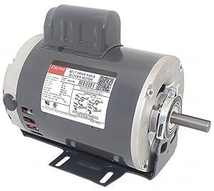 Dayton 1 HP Belt Drive Motor, Capacitor-Start, 1725 Nameplate RPM, 115/208-230 Voltage, Frame 56