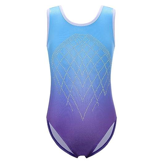 25d9ed335 Amazon.com  Leotards for Girls Kids Gymnastics Gradient Sparkle ...