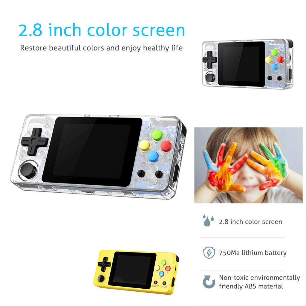Solovley Handheld Game Console Kids Adults, LDK Game Screen by 2.7 Thumbs Mini Palm Pilot Nostalgia Console Children Retro Console Mini Family TV Video by Solovely (Image #2)