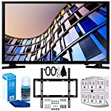 Samsung UN28M4500 27.5'' 720p Smart LED TV (2017 Model) + Slim Flat Wall Mount Kit Ultimate Bundle for 19-45 Inch TVs + SurgePro 6-Outlet Surge Adapter w/ Night Light + LED TV Screen Cleaner