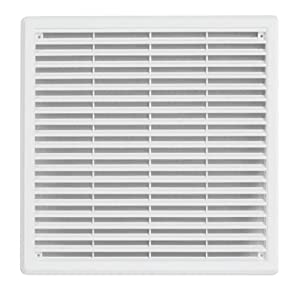 200x300mm with flyscreen Air Vent Grille White Plastic Wall Ducting Ventilation Cover 4 6 8 10 12 14
