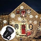 Jieyutek Moving Snowflake Spotlight Laser Lights Indoor/outdoor IP65 Waterproof LED Landscape Projector Light