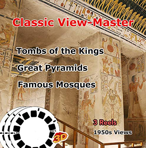 (EGYPT - Tombs of Kings, Great Pyramids, Famous Mosques - Vintage Classic ViewMaster - 3 Reels Only)