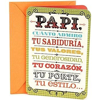 Amazon hallmark vida spanish birthday greeting card to father hallmark vida spanish birthday greeting card to father papi m4hsunfo