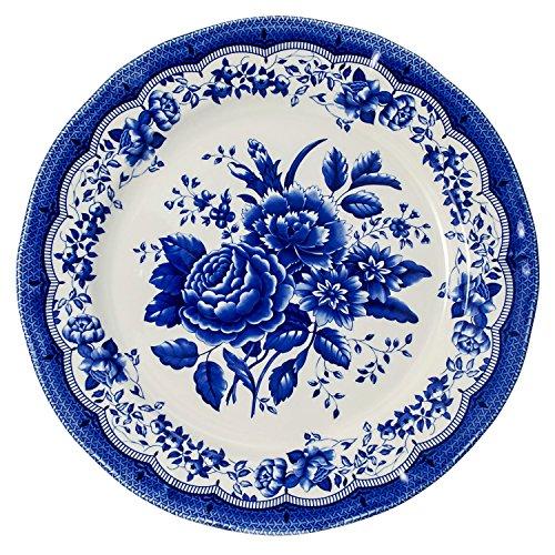 614BfoHLFML - Tudor 16-Piece Porcelain Dinnerware Set, Service for 4 - VICTORIA BLUE, 10 Designs Inside!