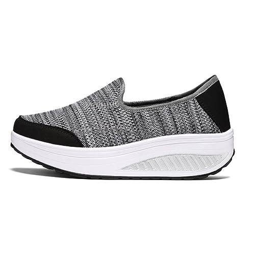 wyhweilong Mujer Zapatillas Al Aire Libre Para Caminar Corriendo Ponerse Porciones Respirable Zapatos de Malla Para Mujer: Amazon.es: Zapatos y complementos