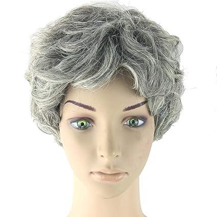 ClifcragrocL Pelucas Moda Corto Rizado Pelo Sintético Mujer Peluca Fiesta Cosplay Disfraz Peluquería