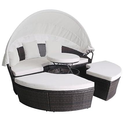 Festnight - Isla de tumbonas, juego de sillones en forma ...