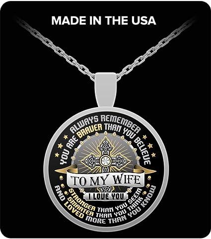 Amazon.com: Collar con Colgante de esposa – para mi esposa ...