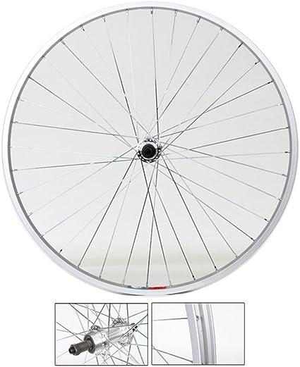 Q//R 700c REAR Road Bike Wheel SILVER Weinman Rim 7 SPEED SHIMANO FREEWHEEL