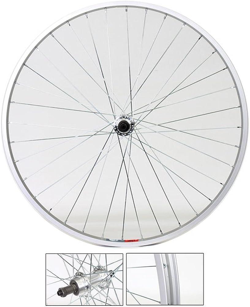"Rears bike 28/"" citybike 700 x35 6//7 speed Pair WHEELS//Circle Front"