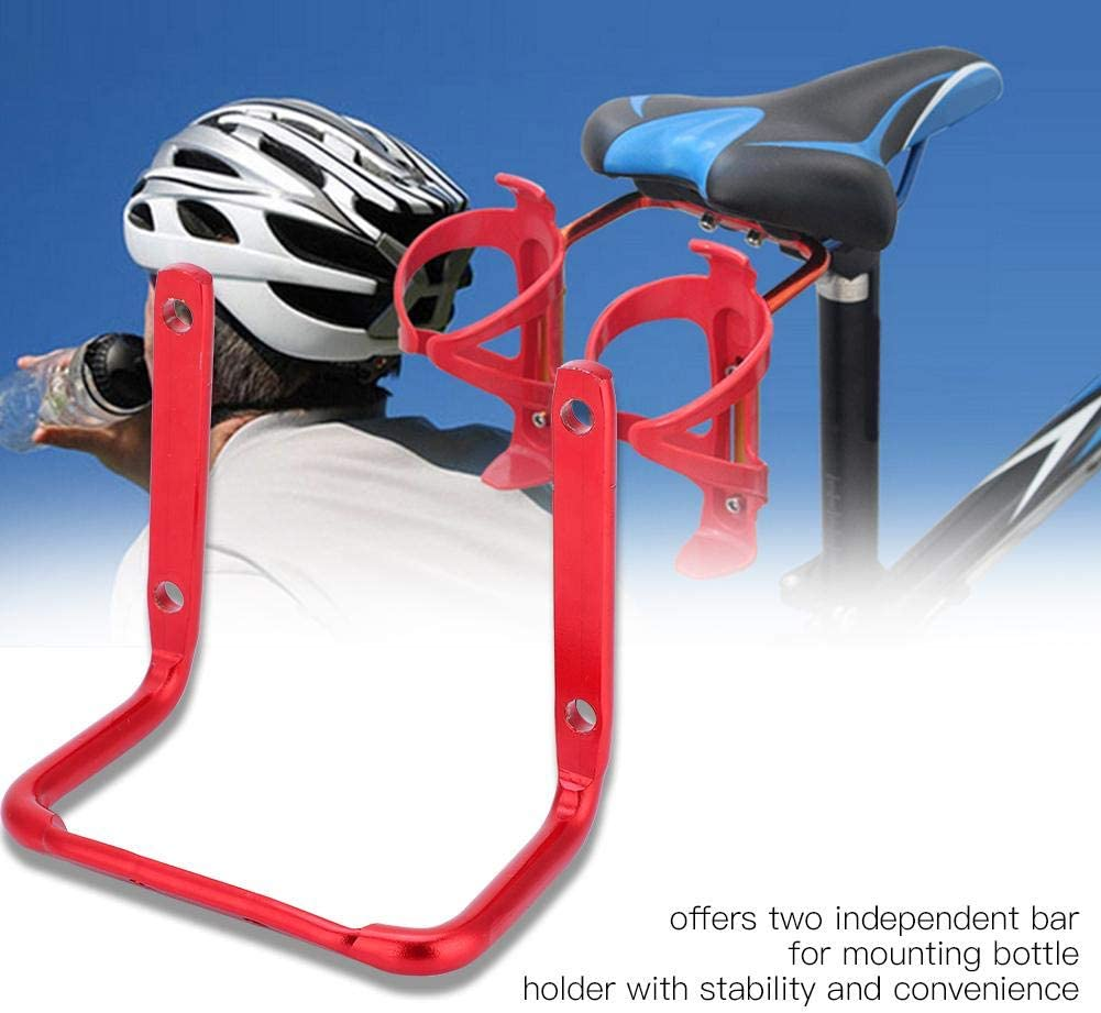Stable Bicycle Water Bottle Mount Dual Bottles Cage Mount Adapter with Fittings for Most Mountain Road Bikes Dilwe Bike Water Bottle Cages
