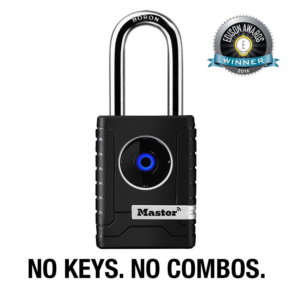 master lock padlock outdoor personal use bluetooth lock 2 7 32 in