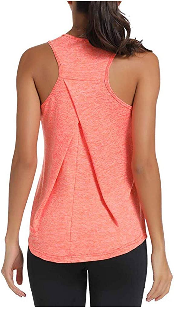COOKI Women's Yoga Shirts Yoga Tops Workout Clothes Yoga Vest Fitness Shirts Exercise Gym Running Tank Tops Sport Shirts