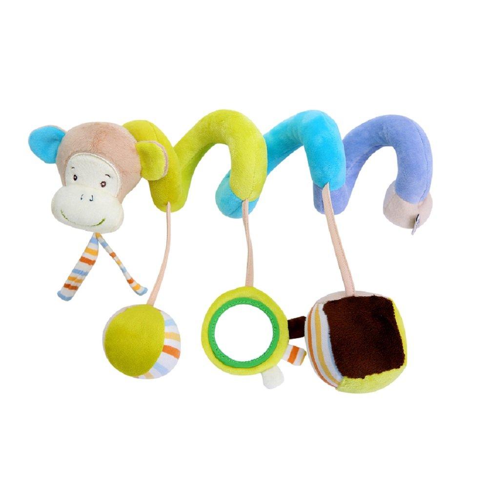 Infant Baby Aktivität Hanging Spiral Bett Musikalische Geschenk Spielzeug mit Spiegel und Bell für Kinderwagen Auto Sitz Kinderbett Drehmaschine Kinderbett Kinderwagen Kinderwagen BulzEU