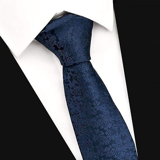 Corbata De Hombre, Azul Oscuro, Estampado Paisley, Vestido De ...