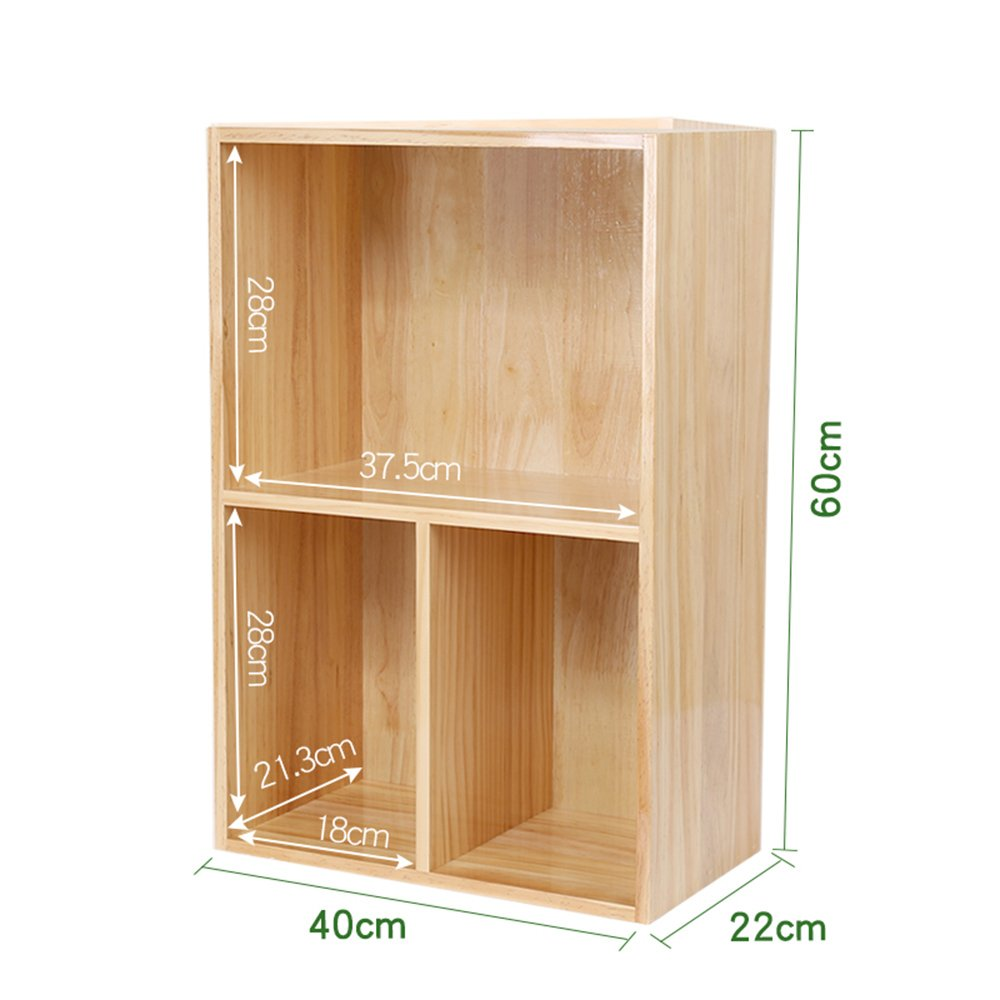 Amazon.com: Estantería Feifei de madera maciza simple ...