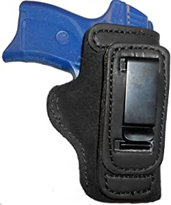 Pro Carry FN FNP FNX FNS 9 40 Leather Gun Holster Shirt Tuck Right Hand IWB Black