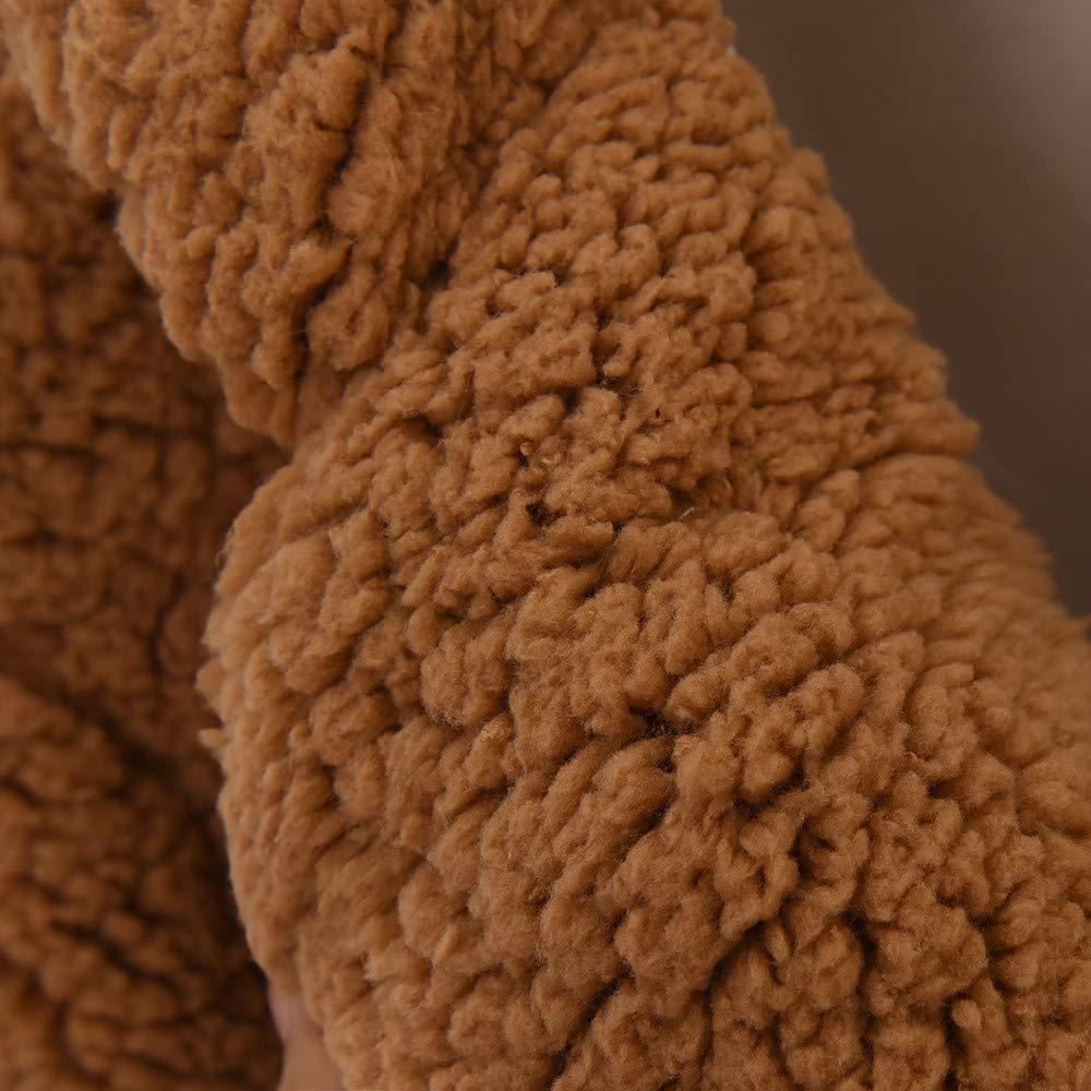 Amazon.com: Sunhusing Ladies Lamb Plush Coat Women Casual Solid Color Notch Collar Faux Fur Outwear: Clothing