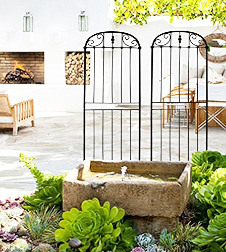 Arch Trellis Set of 2 Garden Panel for Climbing Plants Vines & Flowers 32