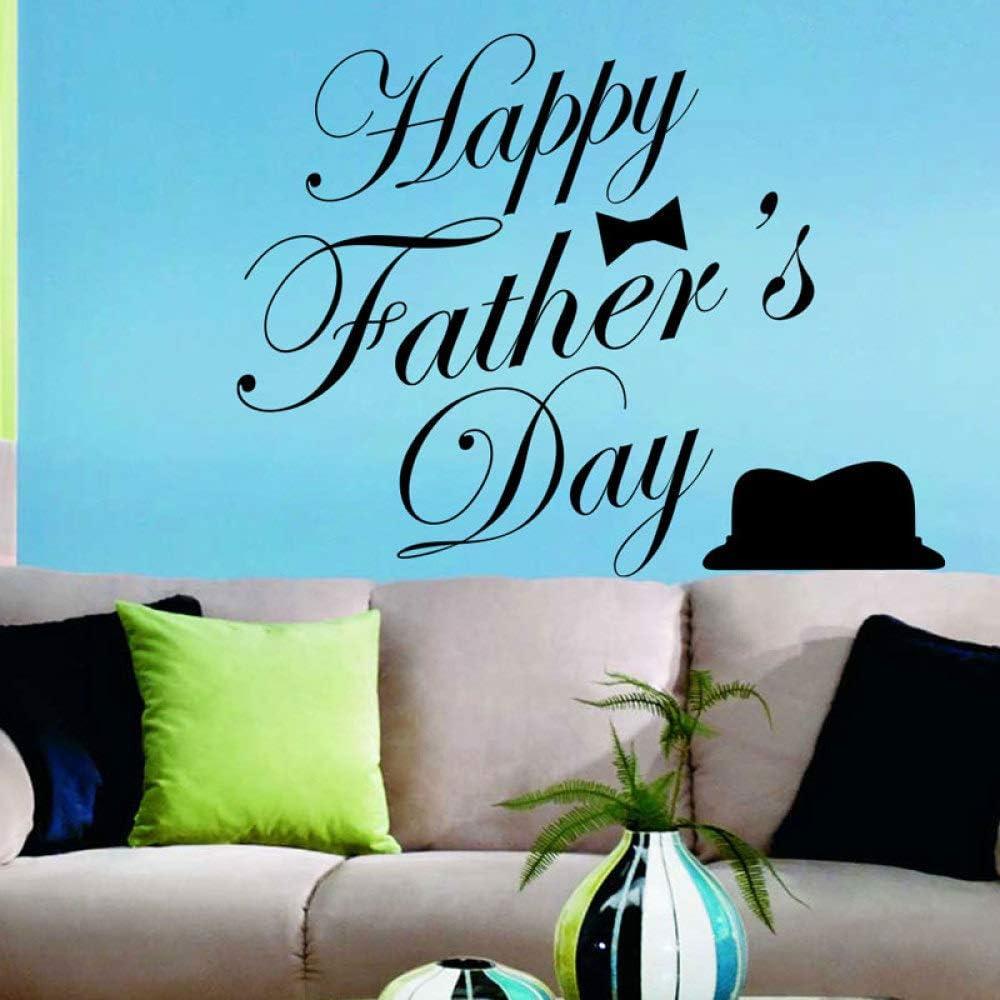 JXYDCD Feliz día del Padre Sombrero Corbata Vinilo Etiqueta de la ...