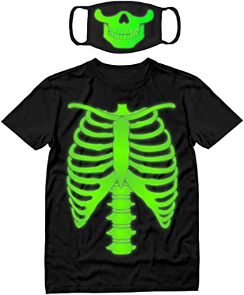 Halloween Dead Scary Mens T Shirt Dark In Glow Present Xmas Wear Costume T-Shirt