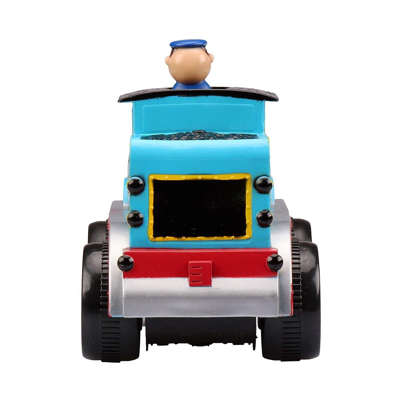 Kid Galaxy Soft Body Friction Power Gravel Truck w// Moving Figure Blue//Orange