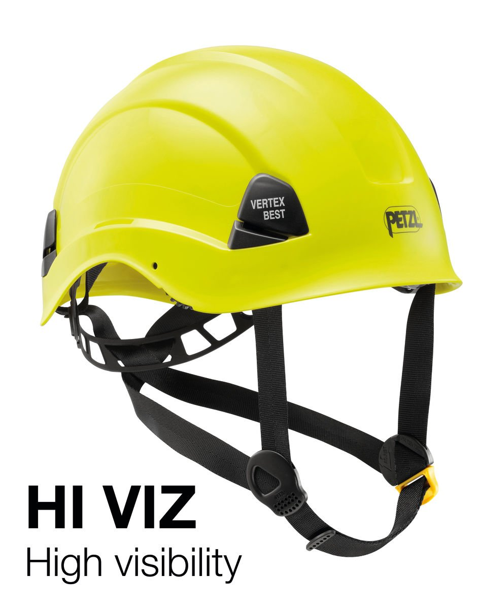 Helmet for Work at Height and Rescue High-Visibility Yellow A10BYA Vertex Best PETZL