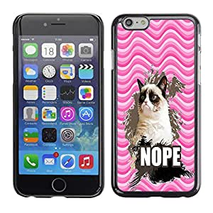 - Chevron Grumpy Cat - - Monedero pared Design Premium cuero del tir¨®n magn¨¦tico delgado del caso de la cubierta pata de ca FOR Apple iPhone 6 6S 4.7 Funny House