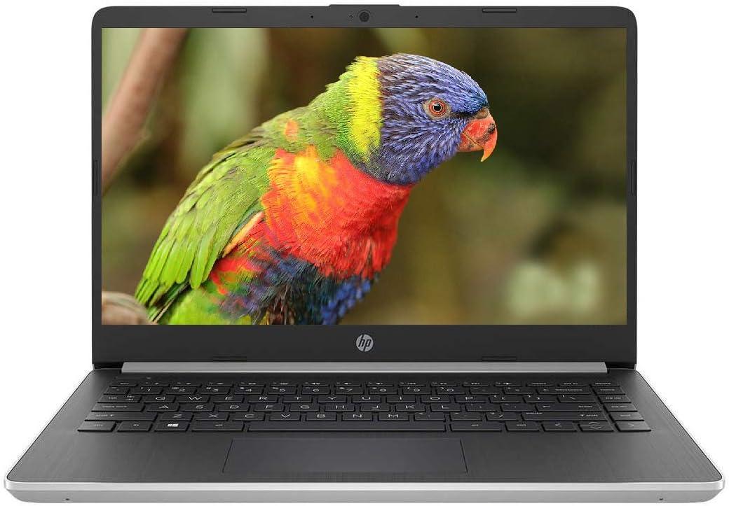 Premium HP 14 Inch FHD 1080p IPS Micro-Edge Display High Performance Laptop 10th Gen Intel Core i5-1035G4 Up to 3.7 GHz 4GB RAM 128GB SSD Bluetooth Webcam WiFi Type-C Backlit Keyboard Win 10 Silver