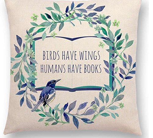 Pillow Cover Funda de Almohada con Diseño de Libro motivador ...