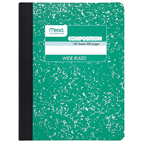 Mead Composition Notebooks, Comp Books, Wide Ruled Paper, 100 Sheets, 9-3/4 x 7-1/2, Fashion, Assorted Colors, 12 Pack (73389)