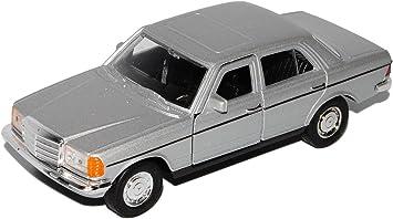 Mercedes Benz E-Klasse W123 Silber Modellauto mit Wunschkennzeichen Maßstab 1:34