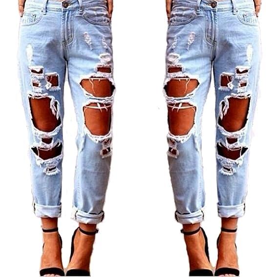 c9573241a Jean Femme Skinny Straight Leg Jeans Femmes Bleu Pantalon en ...