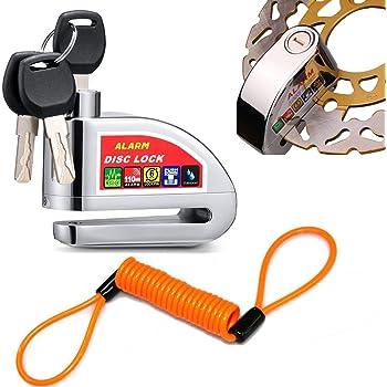 ilamourcar disc brake lock alarm disc lock motorcycle bike anti theft waterproof. Black Bedroom Furniture Sets. Home Design Ideas