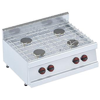 Macfrin 33042 Cocina de Sobremesa a Gas 4 Fuegos 18 Kw