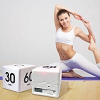 Clock horloge minuterie Digital Cube Alarme 5, 15, 30, 60 minutes Gestion du temps blanc