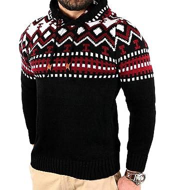 b7cfcac0f2ec3 Gnao Mens Fall Print Hooded Slim Fit Color Block Knit Hoodie ...