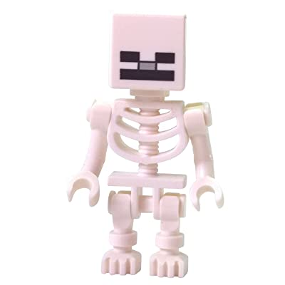 LEGO Minecraft Minifigure Skeleton: Toys & Games