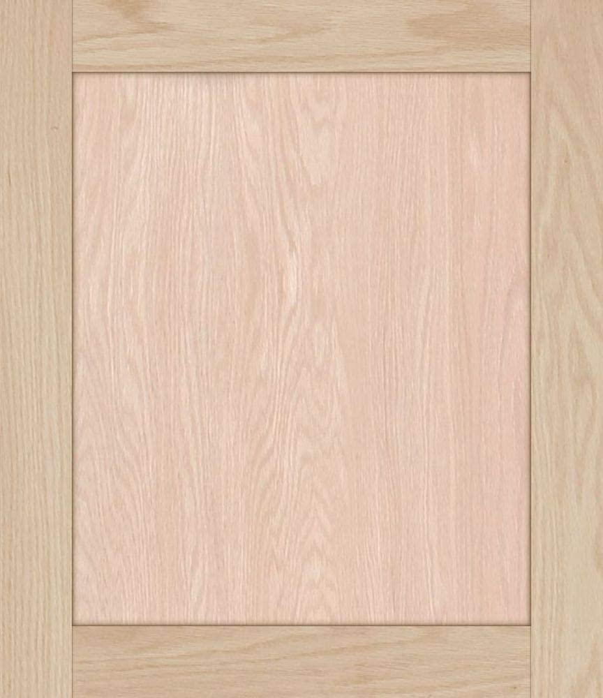 Unfinished Shaker Cabinet Doors in MDF by Kendor 23H x 19W