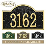 Personalized Cast Metal Address plaque with arch top. Four colors available! Custom house number sign.