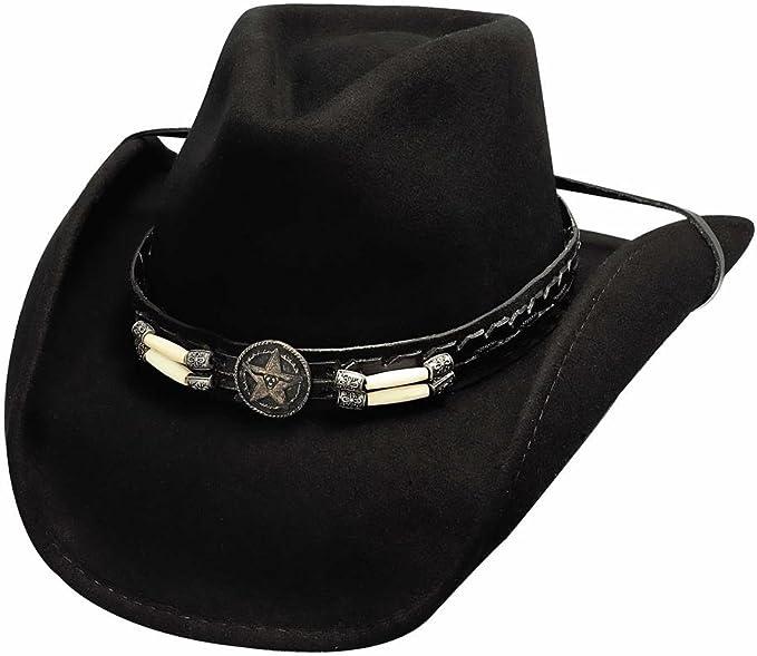 NEW Bullhide Hats 0381Bl Cowboy Collection Wild Horse Black Cowboy Hat