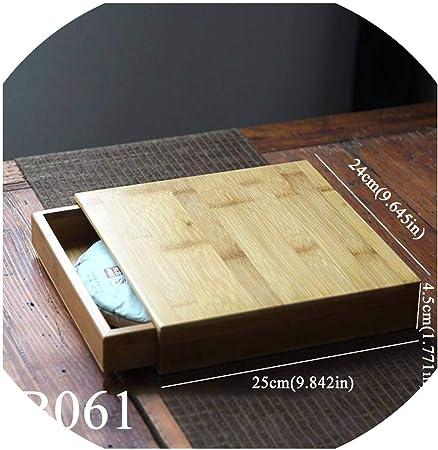 Caja cuadrada de madera para guardar té, productos a granel, bandejas de té Kung Fu talladas, organizador de té, caja de regalo: Amazon.es: Hogar