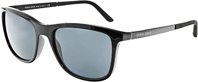 5bd93728544f Amazon.com: Giorgio Armani Men's 0AR8087 Black/Carbon Rubber/Grey ...