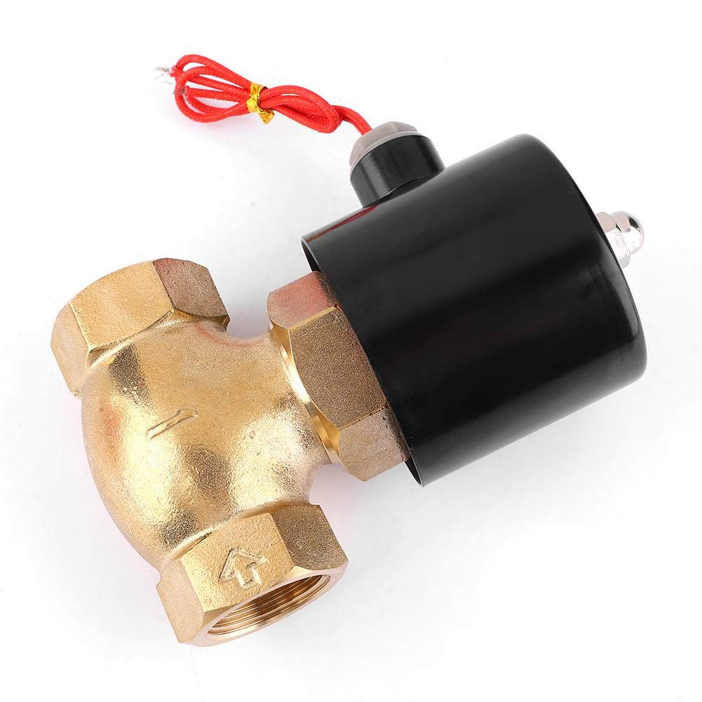 1.5Mpa Normally Closed Pilot-Operated Solenoid Valve for Air Water Steam G1 2 Way Brass Electric Solenoid Valve AC110V
