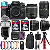 Holiday Saving Bundle for D7500 DSLR Camera + Tamron 70-300mm Di LD Lens + AF-P 18-55mm + Flash with LCD Display + 6PC Graduated Color Filter + 2yr Extended Warranty + 32GB - International Version