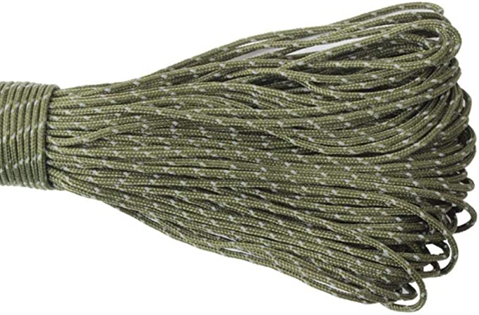 LLAAIT 2mm Paracord Reflective 3 Strand Paracord Core Outdoor ...