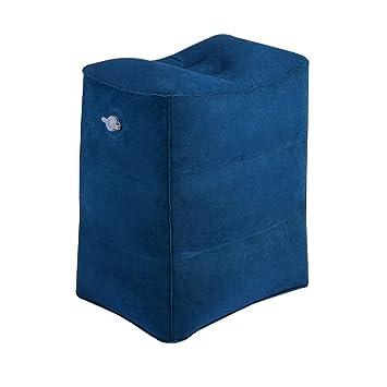 Almohada de Viaje para Descansar los Pies, WeTong Almohada inflable portátil de la pierna para los niños que duermen en el Coche / Vuelo